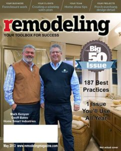 Home Smart Bathroom Remodeling Award. Top 500 by Remodeling Magazine!